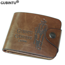 Popular Style Bailini Brand Vintage Hunter Print PurseLeather Men Wallet with 7 Card Slots F239-1