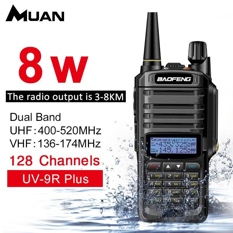 Baofeng UV-9R Plus. Walkie Talkie 8 W VHF UHF Dual Band Palmare Radio Bidirezionale Impermeabile Ricetrasmettitore FM Protable Digitale