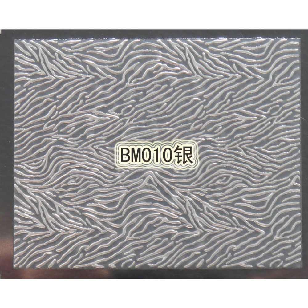 1X самоклеющиеся серебро 3D металла дизайн ногтей Стикеры наклейка слайдер Барокко Рококо арабский Винтаж узор BM01-24