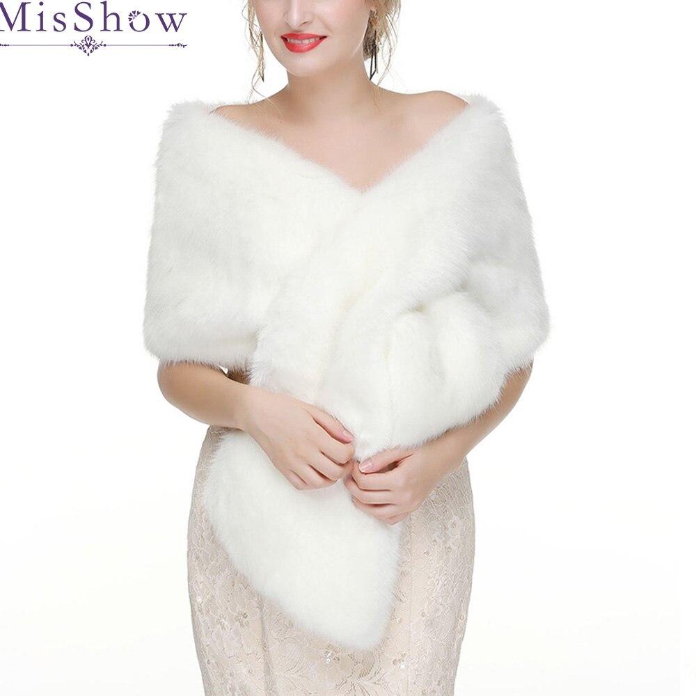 2019 Bolero Women Bridal Shawl Fur Faux Fox Fur Wrap Bolero Winter Warm Wedding Cape Wedding Shawl Fur Cape Bridal Cloak Bolero