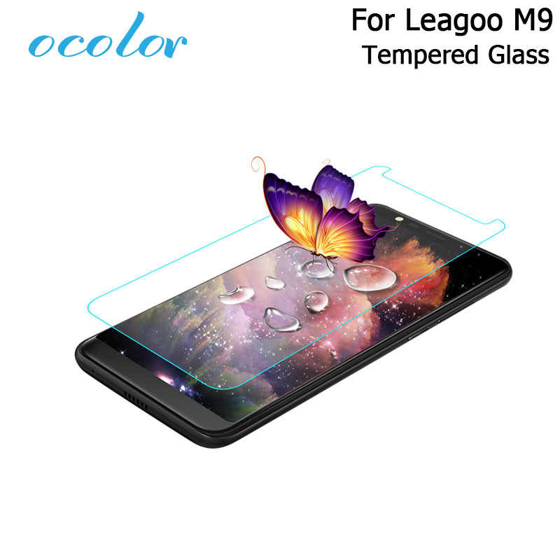 ocolor 2pcs For Leagoo M9 Steel Tempered Glass Film 5.5 Inch Protective Replacement Screen Guard For Leagoo M9 Mobile Phone