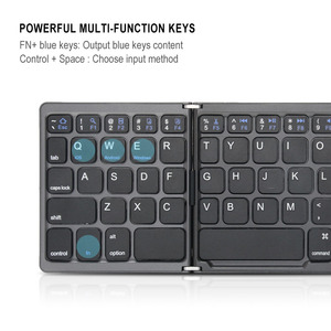 Image 4 - Portable Folding Bluetooth Keyboard Wireless Rechargeable Foldable Klavye Touchpad Keypad for IOS/Android/Windows ipad Tablet