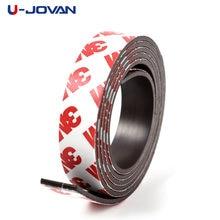 1 Meter 10*1 10*2 12*2 15*1 20*1 30*1mm selbst Klebe Flexible Weiche Magnetische Streifen Gummi Magnet Band breite 10mm/15mm/30mm
