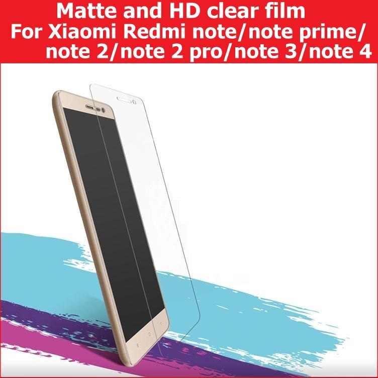 ماتي فيلم والمصقول فيلم ل Xiaomi Redmi ملاحظة 2 3 4/ملاحظة رئيس/ملاحظة 2 برو واقي للشاشة فيلم مكافحة وهج أو شاشة كمبيوتر محمول ذات دقة عالية الحرس