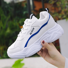 New Style White Sneakers Women Mesh Breathable Shoes Woman 2019 Fashion Dad Ladies Trainers Zapatos Mujer