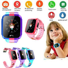 Party Gifts Children Watch Waterproof Anti-lost Safe GPS Tracker SOS Call Kids Smart Watch For Android iOS(China)