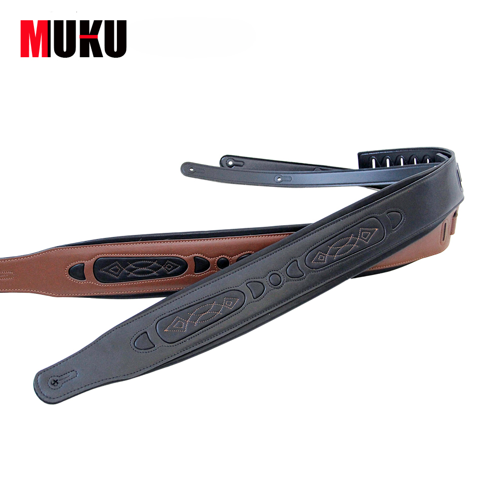 Guitar accessories Guitar Leather Bass Guitar Strap Electric Bass Strap Acoustic Folk Classical Guitar Belt Strap 41 new leather guitar strap electric bass guitar ballad electric guitar strap 015 black