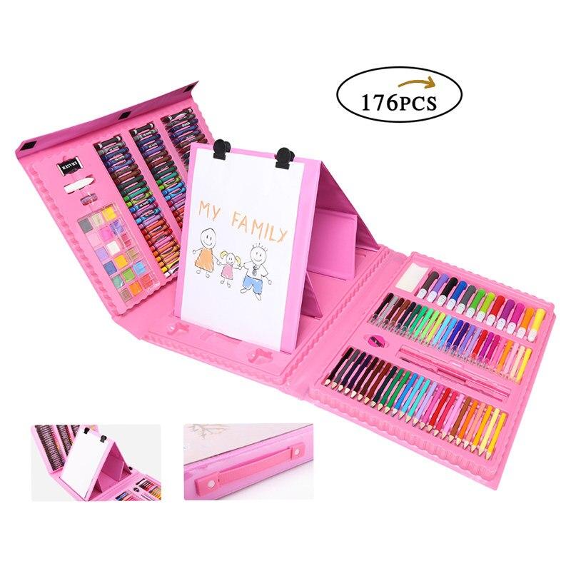 150/176 шт Набор для рисования Карандаши цветные карандаши акварельные ручки для детей Дети ученик Художественный набор кисти для рисования