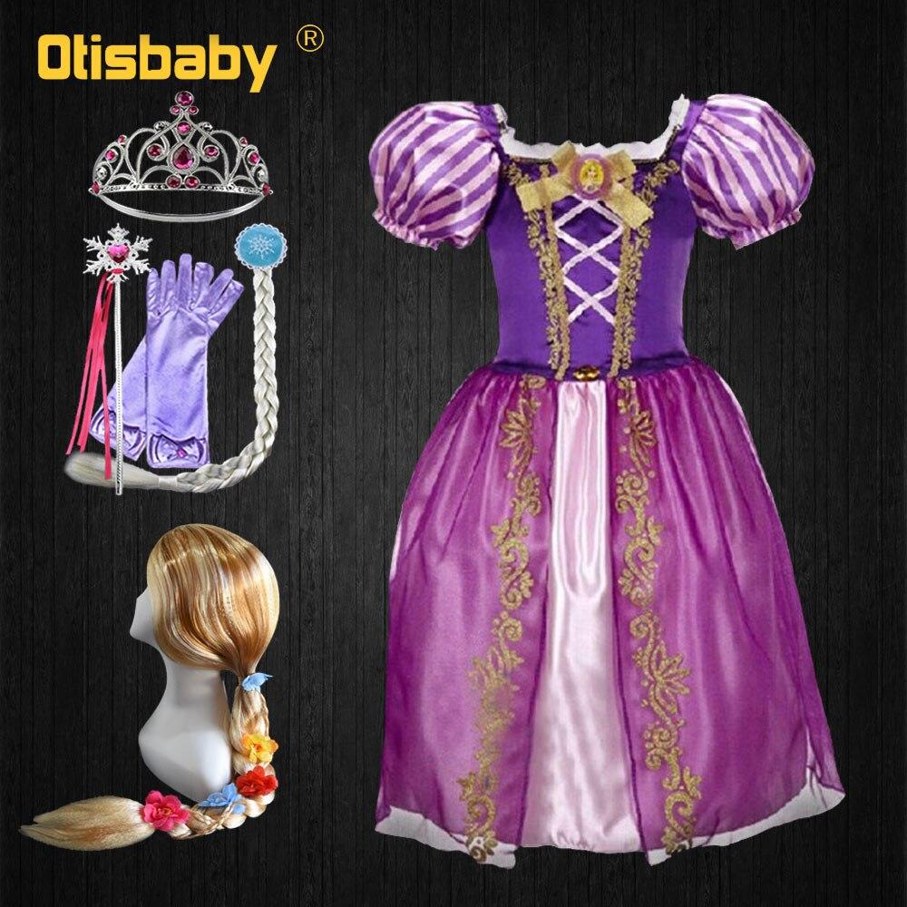 Dependable Otisbaby Summer Dress For Girls Christmas Rapunzel Cosplay Costume Kids Snow Queen Ball Gowns Children Flower Girl Elsa Dress Reputation First