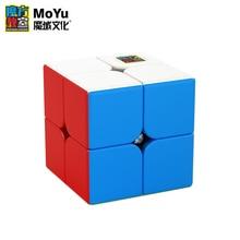 New MoYu Mofangjiaoshi MeiLong 2x2x2 Magic Cube Stickerless Professional Pocket Puzzle Speed Magico Cubo Toys For Children