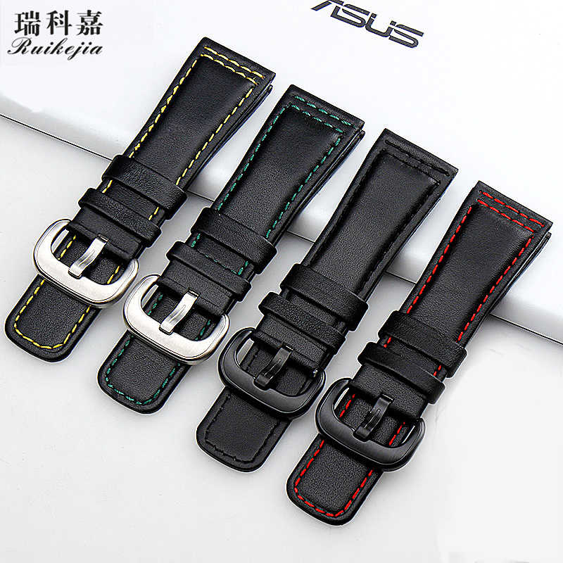 New smooth black calfskin strap for seven-friday watch strap leather M1 M2 P1 P2 P3 S Q series 28mm men's leather bracelet