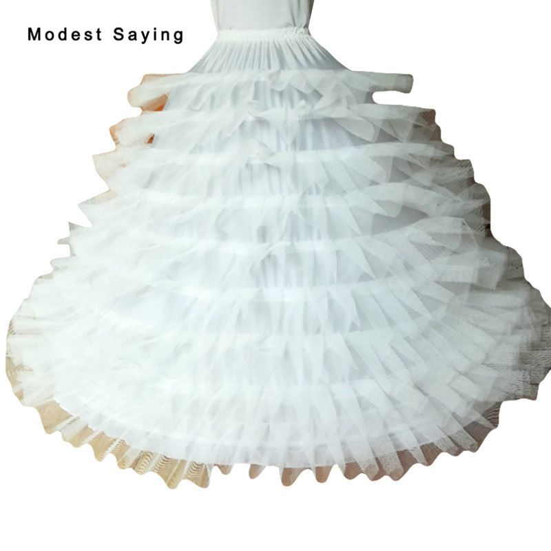 New Arival High Quality 9 Hoops Petticoat Underskirt For Ball Gown Wedding Dress 2019 Bridal Gowns Wedding Accessories Crinoline Petticoats     - title=
