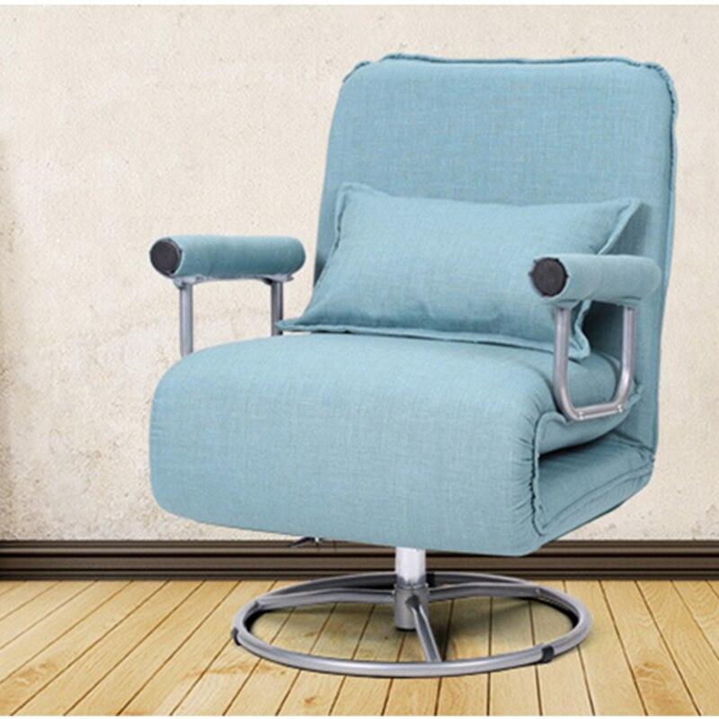 Juegos de ordenador silla giratoria de silla de oficina silla plegable Sala silla reclinable plegable Simple sofá de elevación de la cama