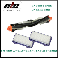 Eleoption Combo Bristle Blade Brush HEPA Filter For Neato XV 11 XV 12 XV 14 XV