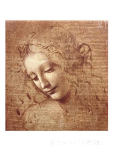 Paintings for living room wall Female Head La Scapigliata c. Leonardo Da Vinci High quality Hand painted