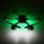 2016 Mais Novo HJ818 Huajun RC zangão Giroscópio 6-axis 3D Rolo Um chave de Retorno RC Quadcopter Helicóptero pode com HD Camera vs U842 U919A