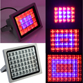 12/40/60/100W High Power Plant lamp grid Spotlights AC85~265V Red Blue LED Greenhouse Plants Hydroponics Flower Panel Grow Light