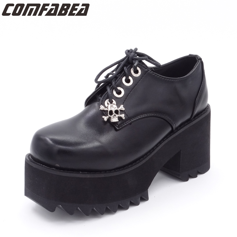 все цены на Spring Autumn Shoes Women Pumps Platform Shoe for Women Casual Shoes 2018 New Fashion Black Footwear Thick Heel Shoe