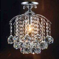 Modern Clear Crystal Ball LED Ceiling Lights For Living Room Surface Mounted Ceiling Crystal Lamp Fixture