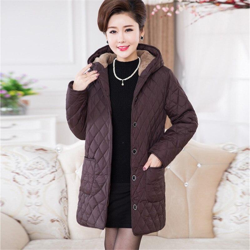 Más Tamaño 6xl Parkas Mujer Suelta chaqueta Nueva otoño invierno vestido de capa