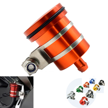 Motorcycle CNC Universal Rear Brake Pump Fluid Tank Reservoir Brake Fluid Reservoir For Suzuki GSX R600 2004-2005 2006-2007 2010 цена
