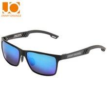 Jimmy orange 2016 new brand polaroid polarized sunglasses men sports sun glasses driving pilot alloy frame JO661
