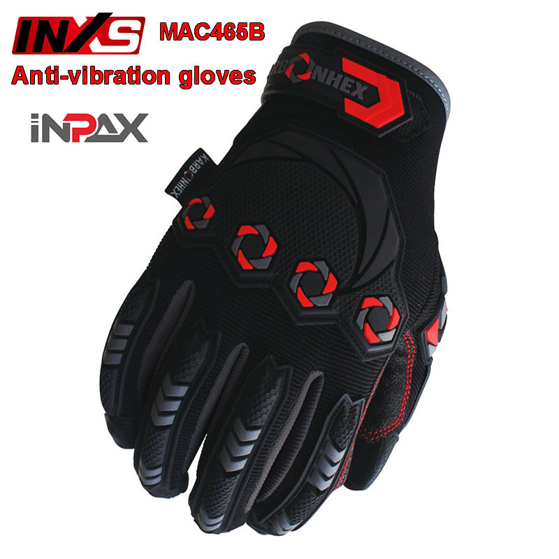 SAFETY INXS MAC465B Anti vibration gloves Heavy duty Impact Flood prevention Shock absorbing gloves Outdoor sports