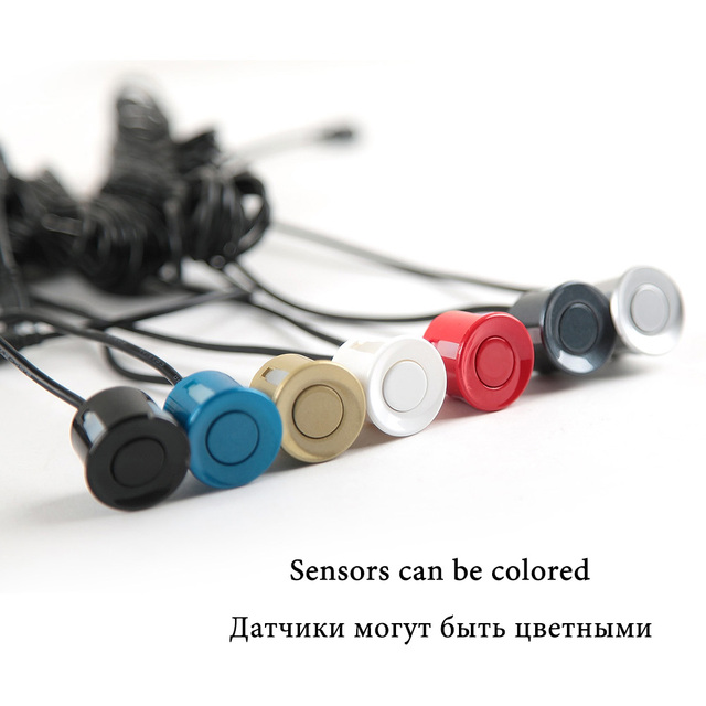 SINOVCLE 4 Sensors Buzzer 22mm Car Parking Sensor Kit Reverse Backup Radar Sound Alert Indicator Probe System 12V  Free Shipping