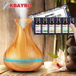 400 ml de Aceite Esencial de Grano De Madera Del Difusor Ultrasónico del Aroma Humidificador de Vapor Frío Aceite Esencial para Difusor de 6 Tipos de Fragancia
