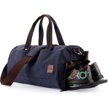 XINCADA Multifunction Handbag Travel Sling Crossbody Pack Canvas Waterproof Sports Training Gym Bag Men Shoes Large Capacity