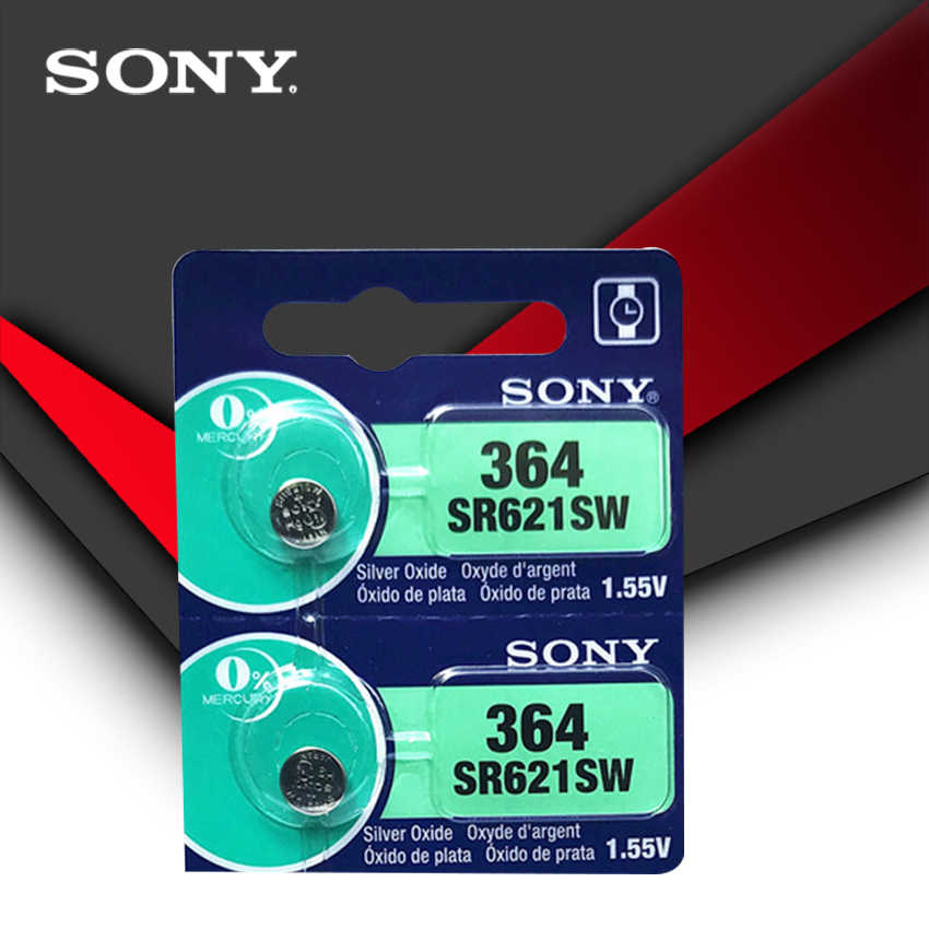 2 piezas Sony 100% Original 364 SR621SW V364 SR60 SR621 AG1 reloj batería botón moneda celda hecho en Japón