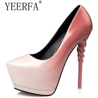 YEERFA blue evening shoes sexy pumps green High Heels women shoes heels ladies Pumps pink shoes stilettos heels wedding shoes