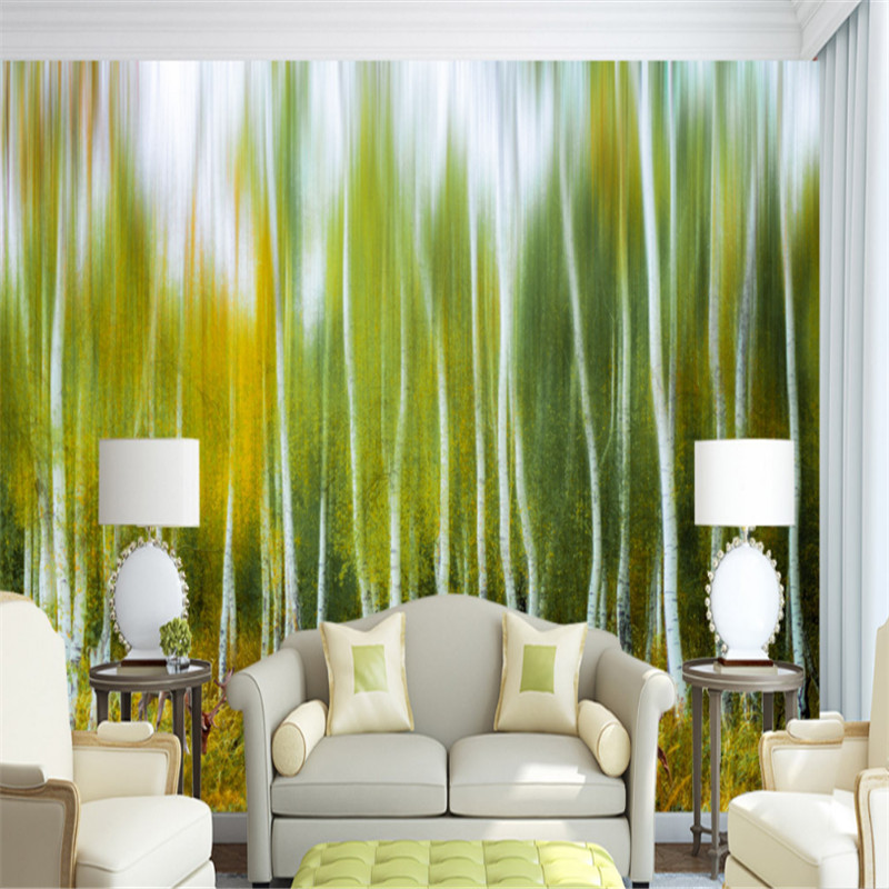 custom modern 3d photo high quality non-woven wallpaper wall murals 3d wallpaper white birch wood elk background wall home decor shinehome black white cartoon car frames photo wallpaper 3d for kids room roll livingroom background murals rolls wall paper