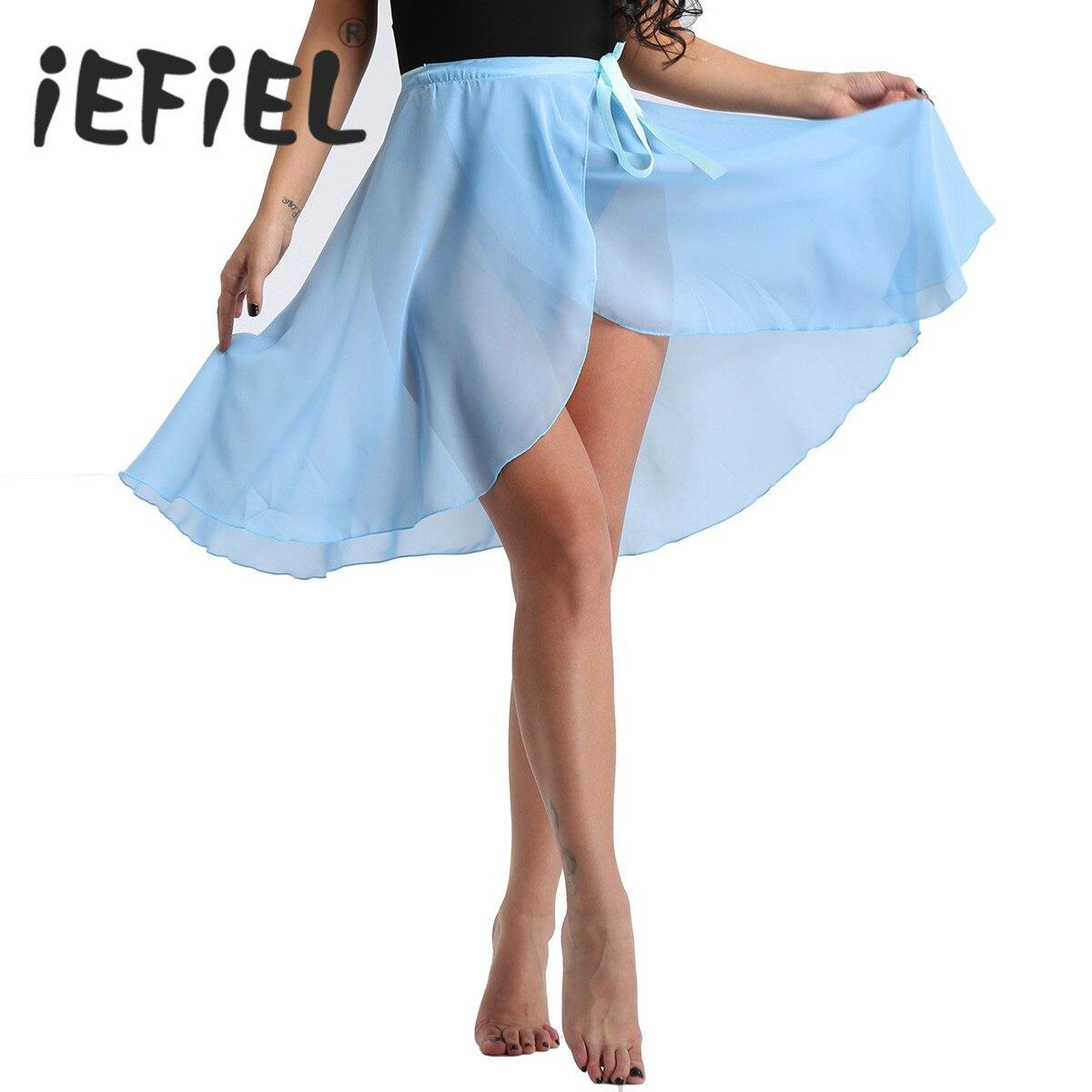 New Arrival Women Fashion Chiffon Wrap Over Scarf Ballet Skirt With Waist Tie Ballet Dance Adult Performance Costume Dance Skirt