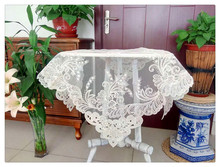 European Style Simple Hollow Embroidery Mesh Lace Round Table Tablecloth Cover Towel Christmas Wedding Decoration Mantel Nappe novel circular mesh pattern lace round tablecloth transparent christmas party wedding tea table mat decoration mantel nappe