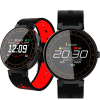 L8 Blood pressure oxygen heart rate monitor color alarm clock pedometer calorie sleep biking sports smarts watches new 2018