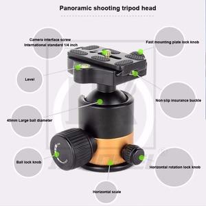 Image 2 - QZSD Q1000C 탄소 섬유 전문 삼각대 45mm 파노라마 28mm 튜브 15kg로드 용량 럭셔리 DSLR 카메라