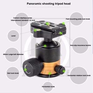 Image 2 - QZSD Q1000C คาร์บอนไฟเบอร์ Professional ขาตั้งกล้อง 45 มม. Panoramic Ballhead 28 มม. หลอด 15 กิโลกรัมหรูหราสำหรับกล้อง DSLR