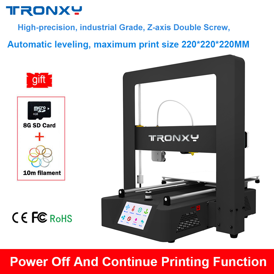Upgrade Tronxy X6A Auto leveling 3D printer Kit High Precision Aluminum Stable Printing Heat Bed Tronxy Large Metal 3D printer tronxy education 3d printer diy kit high precision stable aluminium profile 220 220 300 tronxy diy 3d printer with auto leveling