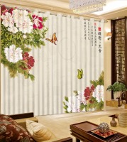 3D Curtains Chinese Style Customize Rich butterfly flowers Living room Home Window Decoration