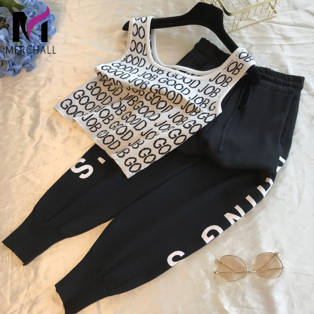 Casual Pants Han Edition Ins The New Personality Pants Sports Vest Spring And Summer Wind Joker Beam Feet Pants Suit