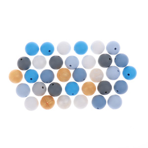 Image 4 - Whosale 12mm Round Silicone Beads 200 Pieces BPA Free Silicone Baby Teether Teething Jewelry Babies Pacifier Chain Accessories