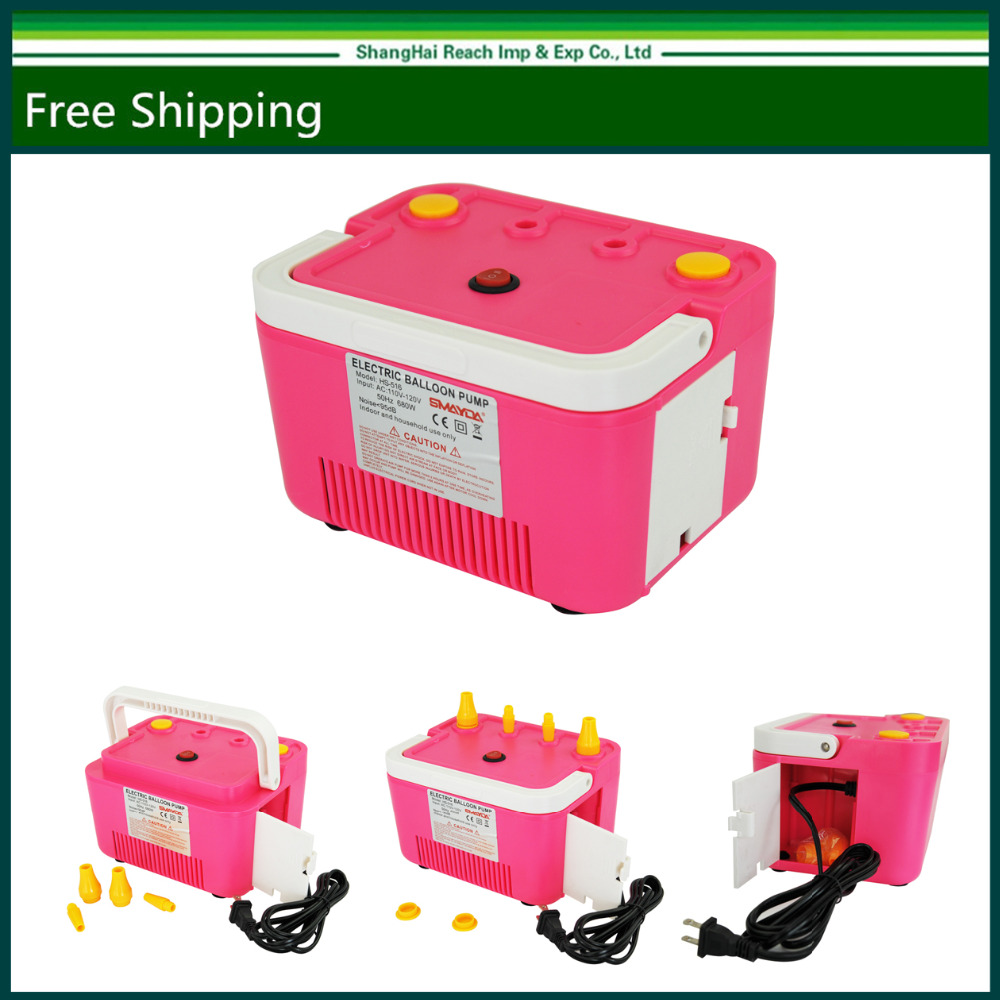 Two Nozzles High Power Electric Balloon Inflator Plum Air Pump for Party 110V 680W