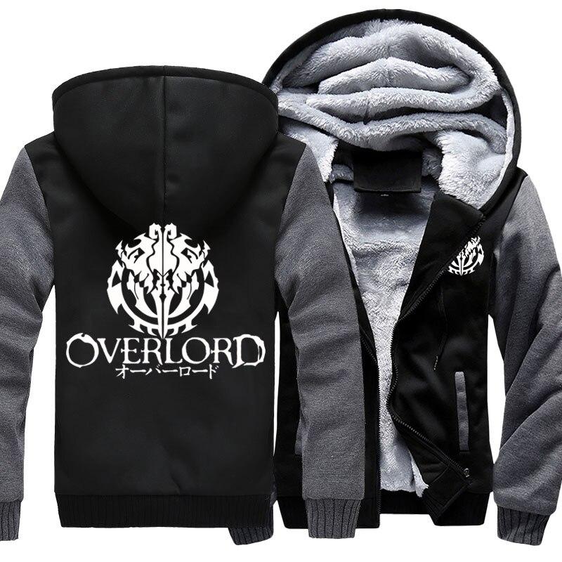 Модные Для мужчин с капюшоном аниме Overlord руно Сгущает Толстовка Унисекс Толстовки для женщин куртка с капюшоном пальто US Размеры 4 цвета