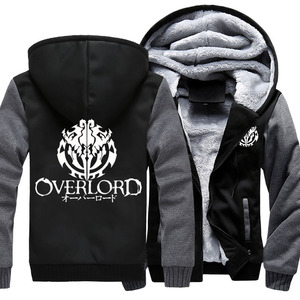 Image 1 - Fashion Mens Hooded Anime Overlord Fleece Thicken Hoodie Unisex Hoodies & Sweatshirts Hoody Jacket Coat US Size 4 Colors