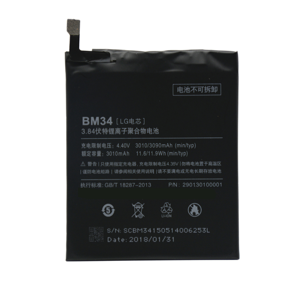 BM34 New Replacement Battery For Xiaomi Mi Note Pro Li-Polymer 3010mAh Real Capacity Akku+Tool set