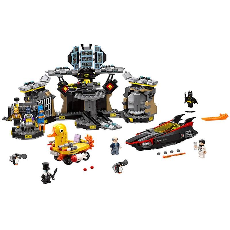 10636 Batman Batcave Break-in Genuine Compatible Legoe Marvel Super Heroes Building Blocks Bricks Toys odeon light 2911 3w odl16 137 хром янтарное стекло декор хрусталь бра e14 3 40w 220v alvada