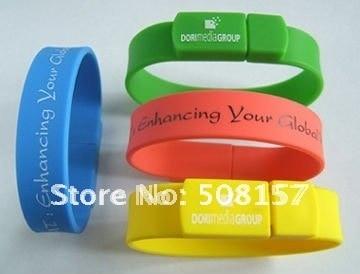 Free shipping,Wristband usb,bracelet usb,Colorful ,Wristband, Silicone, Flash Memory, USB Bracelet