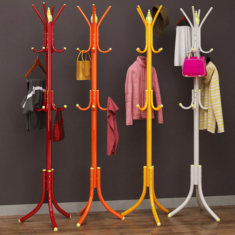 DIY assembly cloakroom bedroom clothes hanger Coat Rack fashion 32mm iron Antirust lacquer Hanging storage 12 hooks