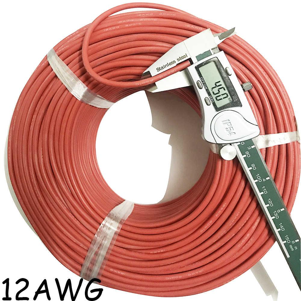 10 mètre/lot Silicone haute température Câble Cordon 10 12 14 15 16 18 20 22 24 26 AWG 5m rouge 5m noir Étamé Koper Câble